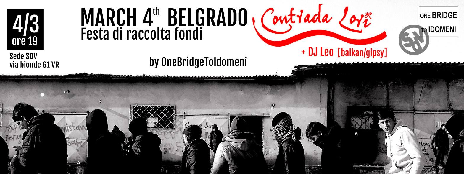 March 4th Belgrado – Sabato 4 Marzo 2017 –