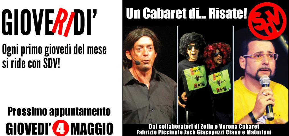 GioveRIdi: il 4 Maggio al Vano9 con un Cabaret di… Risate!