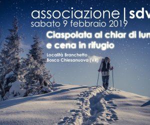 Ciaspolata al Chiar di Luna e Cena in Rifugio – sabato 9 febbraio 2019 –
