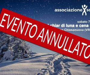 EVENTO ANNULATO! Ciaspolata al Chiar di Luna e Cena in Malga – sabato 7 marzo 2020